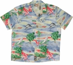 Florida Men's Hawaiian style rayon aloha shirt