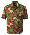 Flying Golden Plumeria Men's Rayon Aloha Shirt