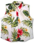 Tropical Summer Hibiscus Women's Sleeveless Blouse