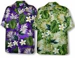 Frangipani Monstera Fern Men's Shirt