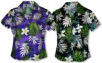 Frangipani Monstera Fern women's fitted cotton