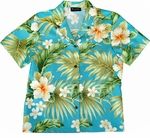 Full Bloom Women's Hawaiian Style Camp Shirt