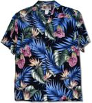 Floral Bloom Anthurium Bird of Paradise tropical shirt