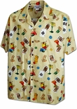 Gamblers Blackjack, Dice Mens cotton Hawaiian shirt