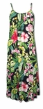 Parakeet in the Lush Garden Spaghetti A-Line Long Sundress