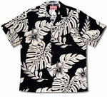 Giant Monstera & Hibiscus Men's Hawaiian Shirt