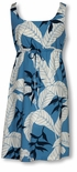 CLOSEOUT Ginger Heliconia Jungle empire tie front