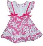 Girl's Pinafore Hawaiian Dress Hibiscus Flower