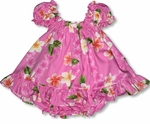 Plumeria Garden Girl's Puff Sleeve 2 pc set