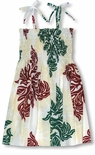 Hawaiian Christmas Snowflake Girl's Tube Top Sundress