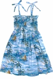 Islanders Girls Smocked Tube Top Sundress