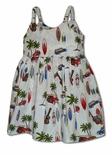 Woodie Surfboard Outing Girl's Bungee Dress