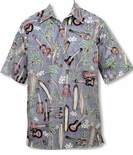 Palm Ukulele Surfboard Men's Pullover Shirt