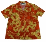 Golden Dragons Women's gold ink Hawaiian shirt