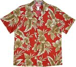 Golden Hibiscus men's RJC made in Hawaii cotton aloha shirt