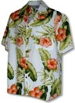 Great Orange Hibiscus Fern Men's Shirt