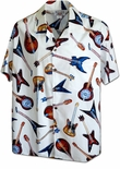 Guitars, Guitars, Guitars Men's cotton aloha shirt