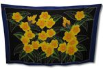 Yellow Flower Border Hand Painted Full Size Sarong