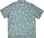 Happy Hour Drinks Vintage Paradise Found 100% Rayon Aloha Shirt