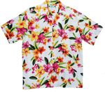 Happy Plumeria men's Hawaiian shirt