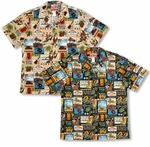 Hawaii State tourist Locations Men's cotton aloha shirt