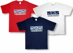 Resort Whale Chest Band Cotton Tee Shirt