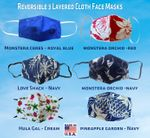 2pc Reversible 3 Layered Hawaiian Masks