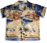 Hawaiian Dreamscape boy's cotton shirt