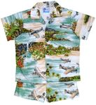 Hawaiian Island Airplanes boy's cabana set