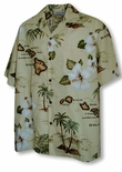 Hawaiian Islands Archipelago Men's aloha Shirt