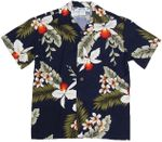 Hawaiian Orchid Boy's Two Palms Rayon Shirt