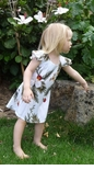 Hawaiian Orchid Girls Adjustable Tie Back Dress