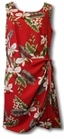 Hawaiian Orchid aloha style short sarong dress