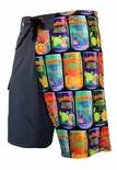 "21"" Hawaiian Passion HIC 8 way stretch board shorts"