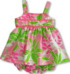 Hawaiian Plumeria Ribbon Girl's 2pc Set