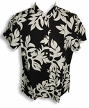 Classic Hawaiian Quilt women's mandarin collar fitted blouse