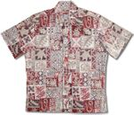 Hawaiian Symbols Men's Tropical Polynesian Cotton Shirt