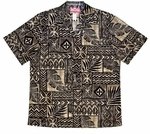 Hawaiian Tapa Mens Shirt