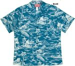 Hawaiian Woodcut II Men's Cotton Aloha shirt