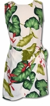 Heliconia Anthurium floral tie front empire waist sarong dress