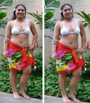 Heliconia Bouquet Hand Painted Half Size Sarong