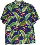 Heliconia Fern Men's Washable Poplin Rayon Aloha Shirt