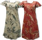 Heliconia Sketch A Line Cap Sleeve Dress