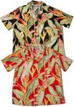 Heliconia Women's rayon camp shirt