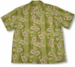 Hibiscus Bamboo Panel Men's Paradise Found aloha shirt