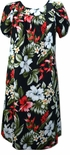 Hibiscus Ginger Heliconia women's muumuu dress