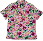 Hibiscus Bouquet women's rayon shirt