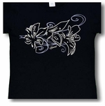 Hibiscus Breeze Women's Cotton Tee Shirt