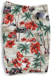 Hibiscus Drag Racers men's & boy's cargo shorts