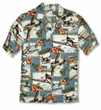 Hibiscus Fighter Airplane boy's shirt
